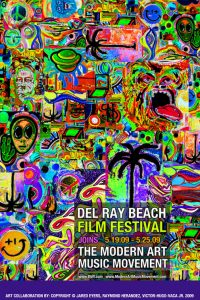 Delray Beach Film Festival Modern Art Music Movement Poster