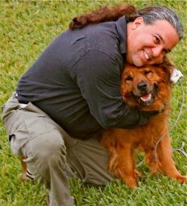 MAVERICK ARTIST VICTOR HUGO VACA II WITH HIS DOG ROMEO