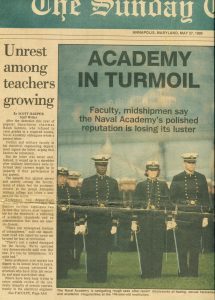 VICTOR HUGO VACA US NAVAL ACADEMY SUNDAY MAY 27, 1990 VOL. 90 NO. 21 THE BALTIMORE MARYLAND SUN FRONT PAGE ARTICLE