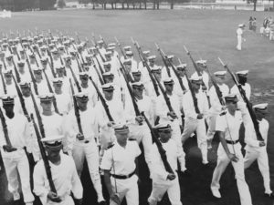 United States Naval Academy Midshipman Officer Victor-Hugo Vaca II leads Brigade Of Midshipman At Leadership Laboratory In Annapolis, MD