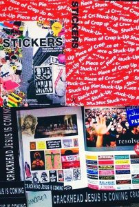 STICKER BOOK FEATURING THE ICONIC CRACKHEAD JESUS IS COMING STICKER