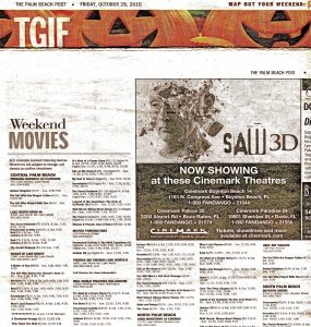 Victor Hugo Art CRACKHEAD JESUS THE MOVIE CENSORED PALM BEACH POST MOVIE LISTING OCTOBER 29 2010