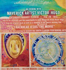 Victor Hugo art Crackhead Jesus