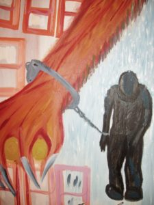 Tommy Robinson Victor Hugo art